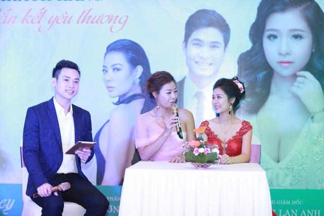 Phan Hương bày tỏ sự trân quý và yêu mến đối với cô em xinh đẹp Hồ Thị Lan Anh.