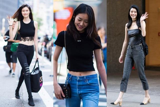 Victorias Secret show 2017 được cho là sẽ có tới 6 siêu mẫu Trung Quốc tham gia trình diễn - 3 trong số đó - từ trái sang: He Sui, Liu Wen và Xi Mengyao đã có buổi thử đồ tại trụ sở Victorias Secret ở New York hồi cuối tháng 8