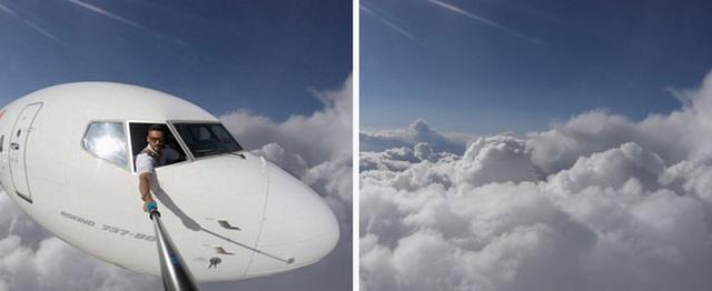 Người dùng  nhanh chóng tìm ra tấm ảnh chụp mây làm phông nền được Daniel sử dụng, có lẽ là bằng Photoshop, để ghép vào bức ảnh.