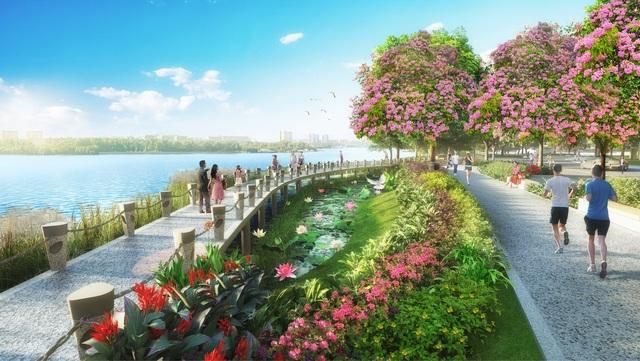 Không gian thơ mộng với đặc trưng là hoa Singapore Sakura tại khu phức hợp Phú Mỹ Hưng Midtown cũng hứa hẹn là điểm đến lý tưởng cho các gia đình khi đưa vào hoạt động giai đoạn 1 - 2019