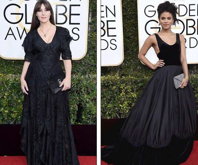 Monica Bellucci và Zazie Beetz bị chê vì 2 bộ váy đen quá cứng nhắc