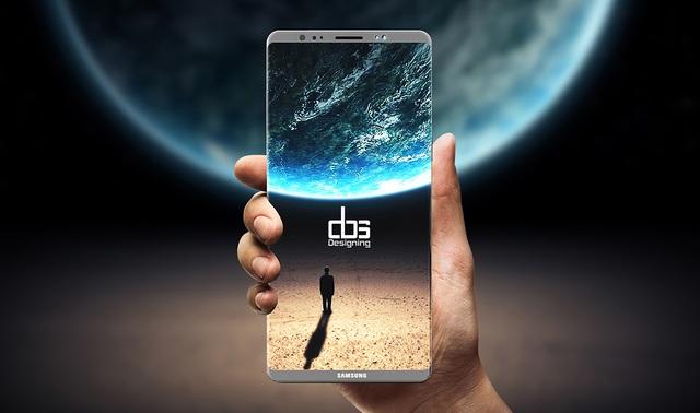 Một bản concept ý tưởng của Galaxy Note 8.
