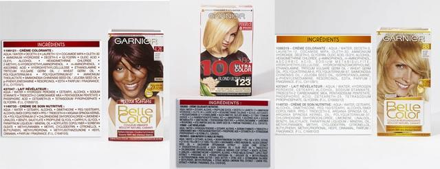 Thuốc nhuộm tóc Garnier có p-Phenylenediamine và Methylisothiazolinone