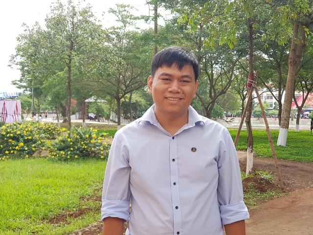 Anh Tôn Thất Trường Nam, người sáng chế ra máy phát hiện gian lận thi cử bằng thiết bị công nghệ cao (ảnh NVCC)