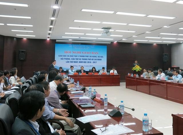 Hội nghị giao ban Giáo dục - Đào tạo cụm 5 thành phố trực thuộc Trung ương vừa diễn ra tại Đà Nẵng sáng 4/3