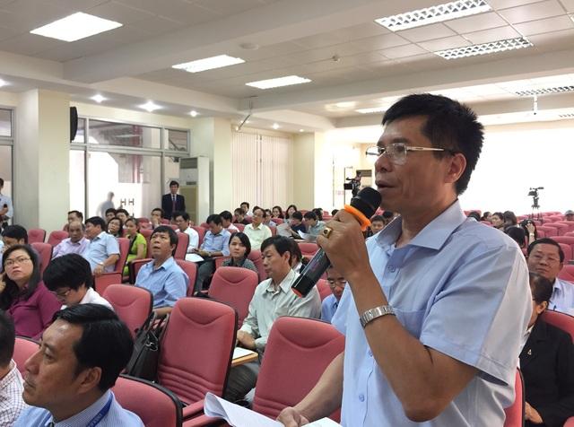 Ông Phan Sỹ Quang, Sở GD-ĐT Đắk Nông phát biểu tại hội thảo góp ý dự thảo Luật Giáo dục sửa đổi