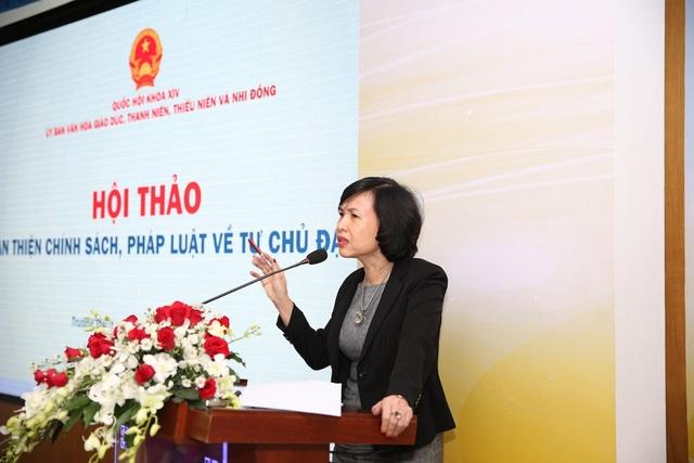 GS.TS Mai Hồng Quỳ, Hiệu trưởng trường ĐH Luật TP.HCM phát biểu
