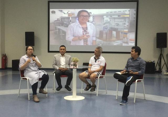 Hình ảnh trong buổi trao đổi kinh nghiệm khởi nghiệp sáng ngày 23/4. (Ảnh trên facebook)