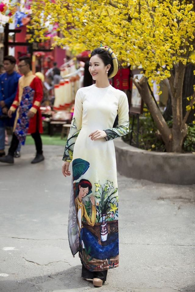 Á hậu Hà Thu lên tiếng về áo dài cách tân - 12
