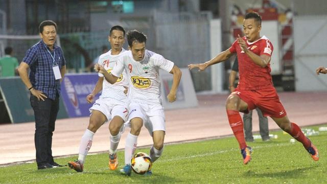 Giá trị thương hiệu của V-League, theo đánh giá của nhà tài trợ Toyota, thông qua gói tài trợ, chỉ bằng 1/3,75 lần, so với Thai-League (ảnh: Trọng Vũ)