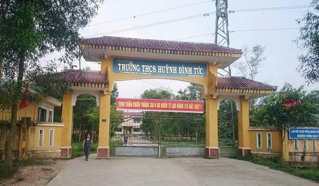 Trường THCS Huỳnh Đình Túc, Thị xã Hương Trà, tỉnh Thừa Thiên Huế - nơi có 2 nữ sinh lớp 9 đánh học sinh cùng trường học lớp 7.