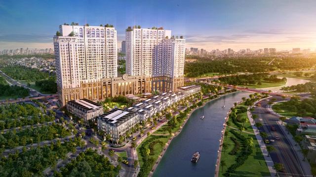 Roman Plaza (Hà Nội) là một trong những dự án có lợi thế vượt trội nhờ nằm trên đường Tố Hữu có tuyến BRT đi qua (ảnh phối cảnh)