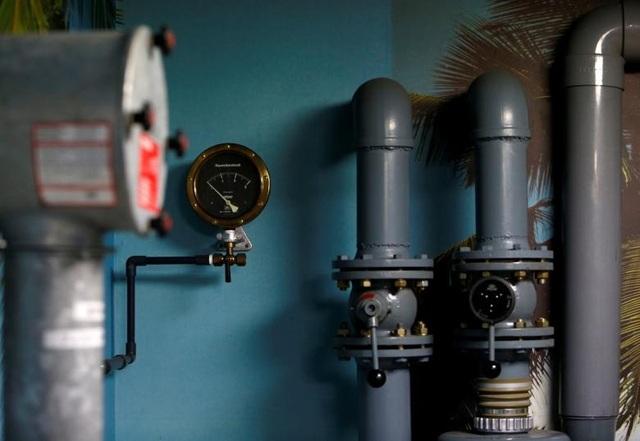 Căn phòng trú ẩn được trang bị hệ thống lọc không khí ngăn phóng xạ.