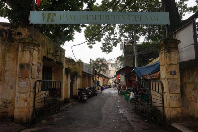 Lối vào Hãng phim truyện Việt Nam hiện nay. Ảnh: TL.