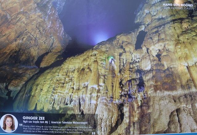 """Bức ảnh chụp bên trong Hang Sơn Đoòng của GINGER ZEE, ngôi sao truyền hình Mỹ: """"Khung cảnh tráng lệ của Sơn Đoòng gợi cho tôi những hình ảnh siêu thực của bộ phim Avatar """"."""