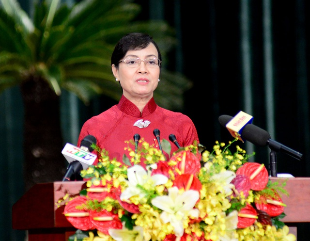 Chủ tịch HĐND TPHCM Nguyễn Thị Quyết Tâm đề nghị chính quyền TP phải điều hành đầu tư công hiệu quả hơn, tránh lãng phí, tham nhũng