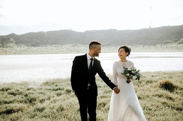 Họ đã có một bộ ảnh cưới lãng mạn chụp tại Lý Sơn