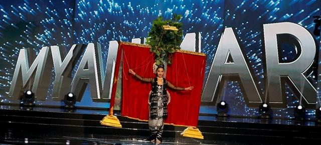 Hoa hậu Myanmar - Htet Htet Htun với trang phục dân tộc đẹp nhất
