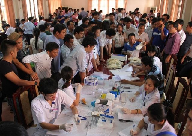 Hơn 600 cán bộ, công nhân viên chức và người lao động đăng ký tham gia hiến máu tình nguyện