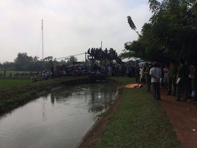 Đoạn kênh nơi người dân phát hiện thi thể nghi can Nguyễn Thị Thanh