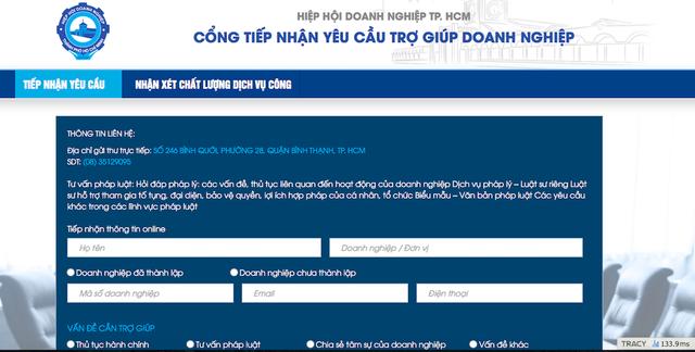 Cổng thông tin này có tên miền http://hotro.hiephoidoanhnghiep.vn/ được quản lý, vận hành bởi Hiệp hội Doanh nghiệp TPHCM