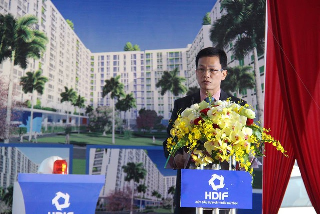 Ông Nguyễn Trọng Hiếu, Giám đốc Quỹ Đầu tư phát triển tỉnh Hà Tĩnh, chủ đầu tư dự án