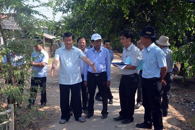 Nguyên Chủ tịch nước Trương Tấn Sang vận động tiền tỉ xây cầu cho dân - 1
