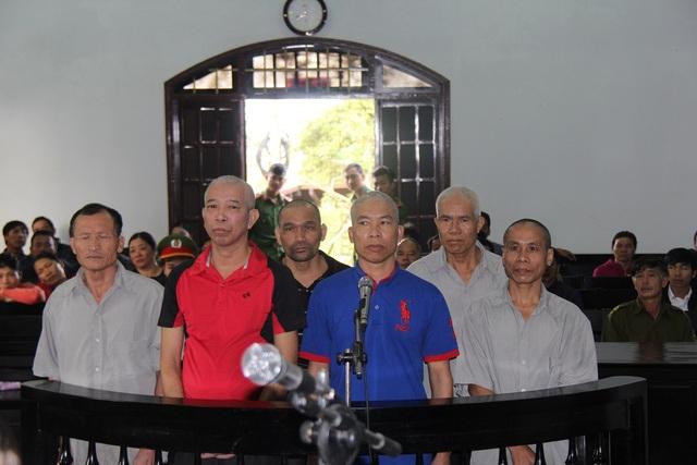 Các bị cáo là cựu chiến binh tại phiên tòa phúc thẩm
