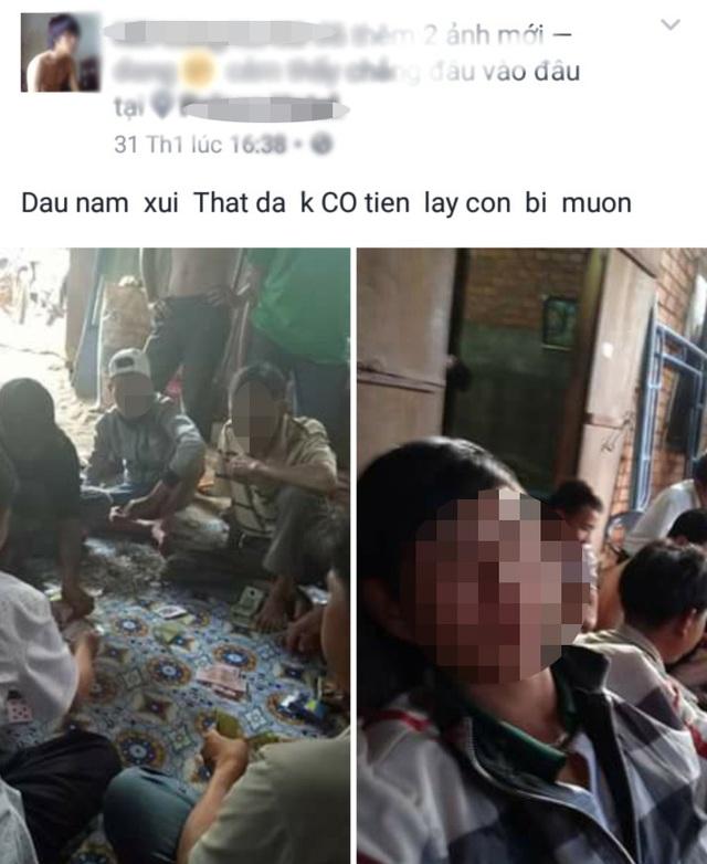 Hình đánh bạc được đưa công khai lên trang Facebook cá nhân trước đó (ảnh: FBNV)