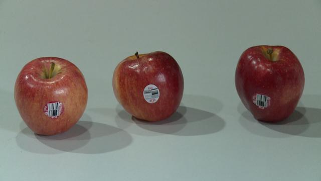 Cùng một loại táo có nhiều loại tem khác nhau