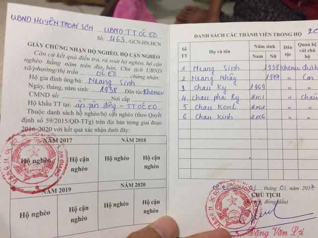 Gia đình em Chau Konl thuộc hộ nghèo tại tỉnh An Giang.