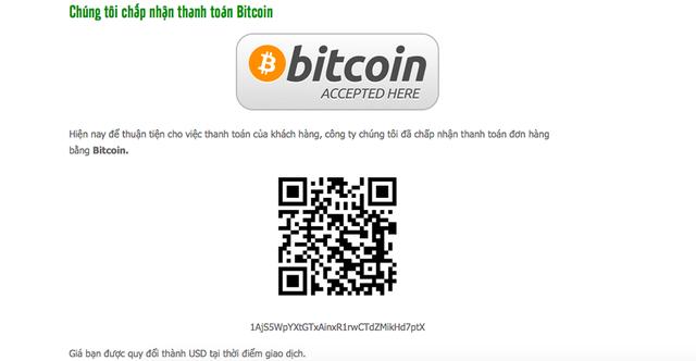 Nhiều doanh nghiệp công khai đăng tải thông tin thanh toán bằng bitcoin.