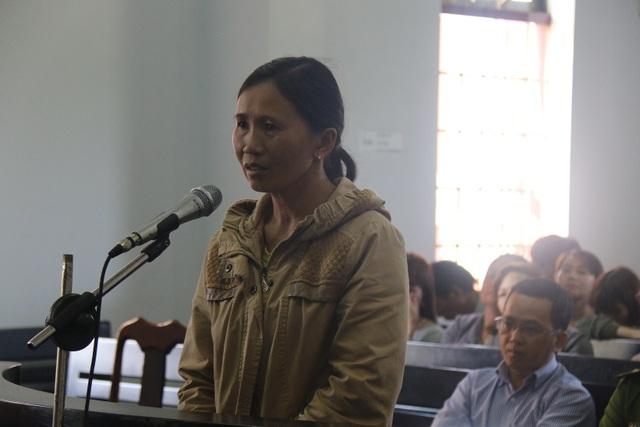 Bị cáo Trương Thị Lan  tại tòa