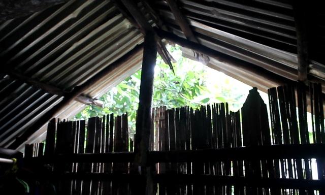 Thiếu tiền mua vật liệu nên những căn lều của học sinh Tây Trà đều tạm bợ, trống hoác