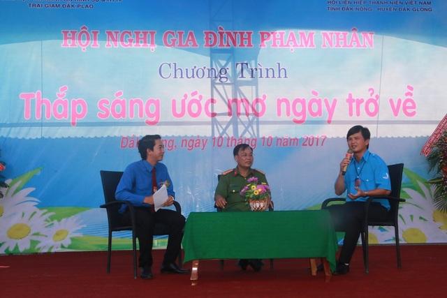 Chia sẻ của Giám thị trại giam Đắk P'lao, Chủ tịch HLHTN tỉnh Đắk Nông với phạm nhân