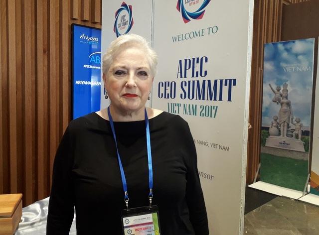 Bà Deborah Biber, giám đốc điều hành Hội Đồng Kinh tế vành đai Thái Bình Dương (Ảnh: An Bình)