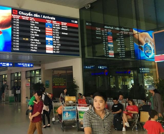 Bảng thông tin chuyến bay tại Tân Sơn Nhất - TPHCM