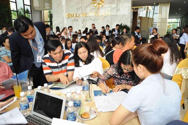 Thu hút đông đảo khách hàng, tỷ lệ tiêu thụ trung bình các đợt mở bán dự án Him Lam Phú An đều đạt từ 96-99%