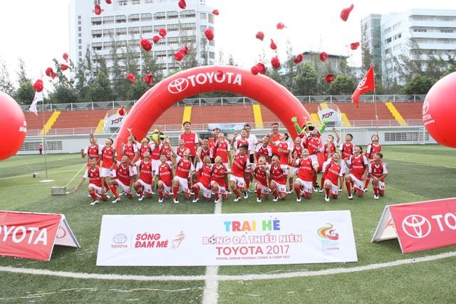 Đây là năm thứ 3 Toyota tổ chức sân chơi Trại hè bóng đá thiếu niên dành cho thiếu niên trong dịp hè