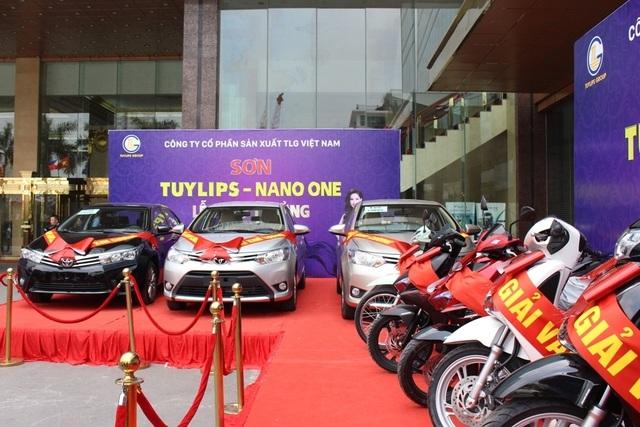 Các phần quà dành tặng khách hàng của Công ty Cổ phần Sản xuất TLG Việt Nam.
