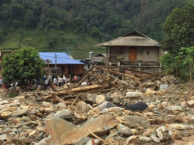 Khung cảnh tan hoang nơi vùng cao Yên Bái sau khi lũ đi qua.