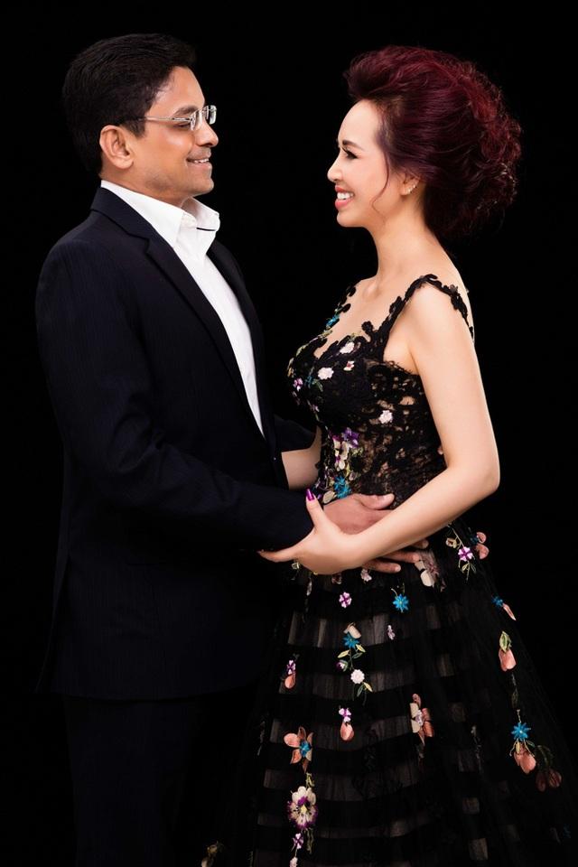 Hoa hậu Diệu Hoa và chồng.