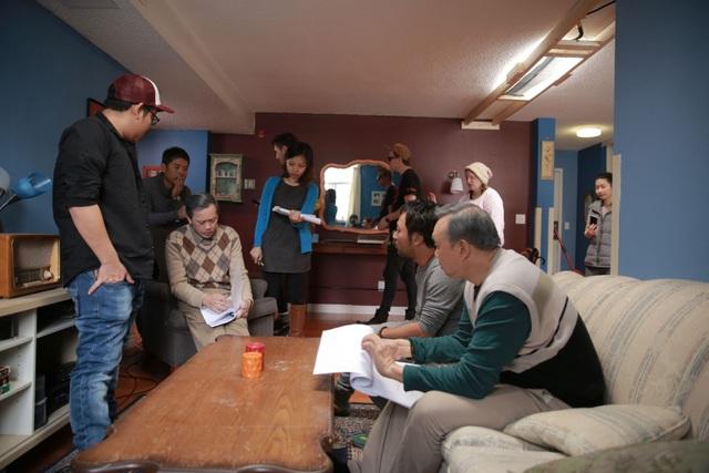 Các cảnh quay đa phần phải thực hiện dưới trời bão tuyết.