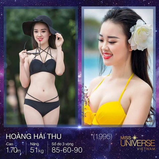Đến từ Hà Nội là người đẹp Hoàng Hải Thu, cao 1m70 với các số đo lần lượt là 85-60-90.