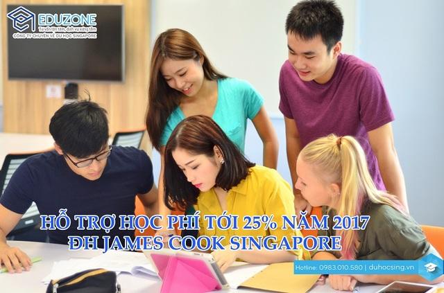 Chương trình hỗ trợ học phí của ĐH James Cook Singapore năm 2017 - 1