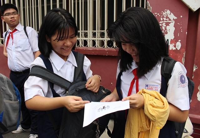 Học sinh tham dự kỳ thi tuyển sinh vào lớp 10 công lập tại TPHCM năm nay. (Ảnh: Lê Phương)
