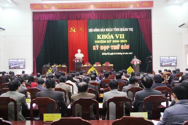 Hội đồng nhân dân tỉnh Quảng Trị khai mạc kỳ họp thứ 6