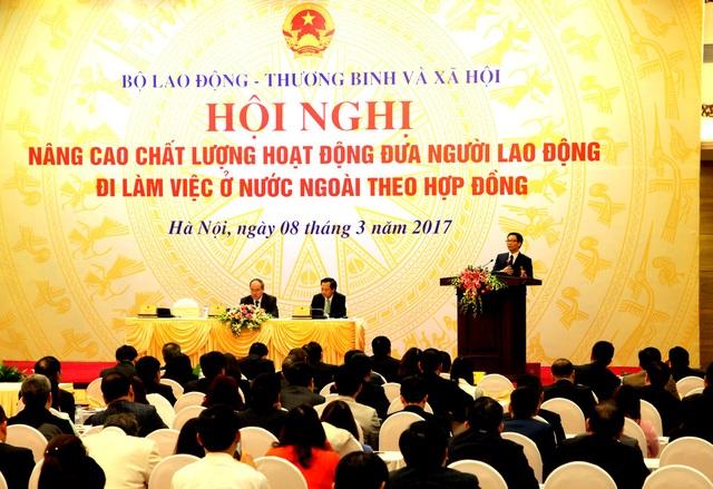 Hội nghị Hội nghị nâng cao chất lượng đưa lao động đi hoạt động theo nước ngoài theo hợp đồng.