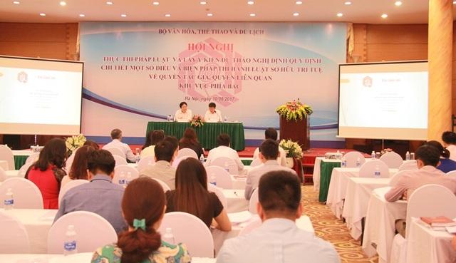 Toàn cảnh hội nghị diễn ra sáng 10/8 tại Hà Nội. Ảnh: GL.