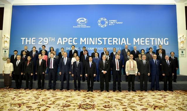 Các Bộ trưởng Ngoại giao - Kinh tế và Trưởng đoàn 21 nền kinh tế APEC